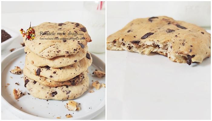 Biscuiti cu branza de vaci si ciocolata 1