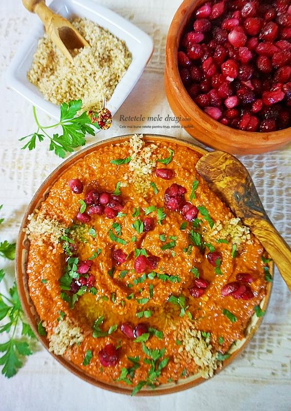 Muhhamara-pasta de ardei copt cu nuca in stil libanez 2