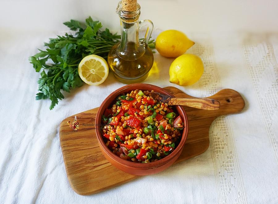 Salata de linte cu ardei copt 2
