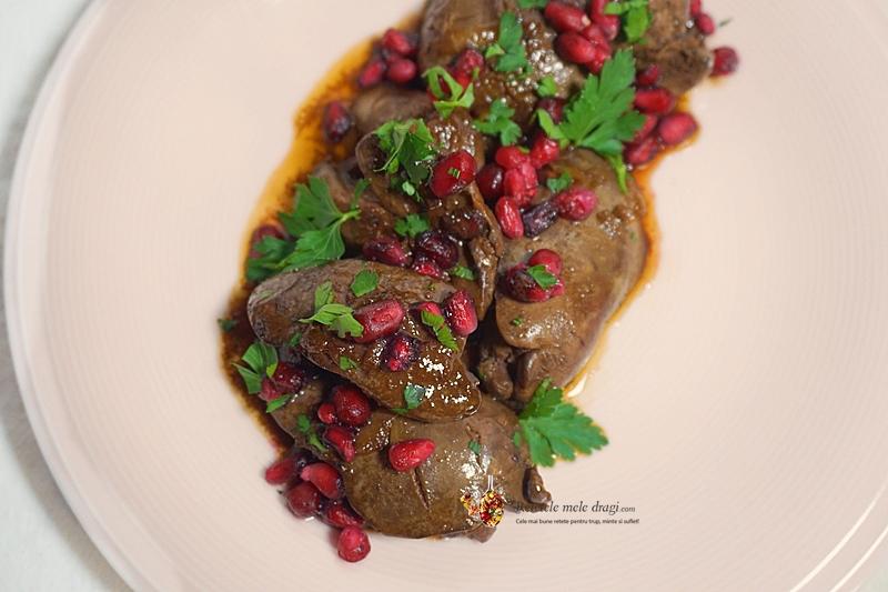 ficatei de pui cu sos de rodie in stil libanez 5