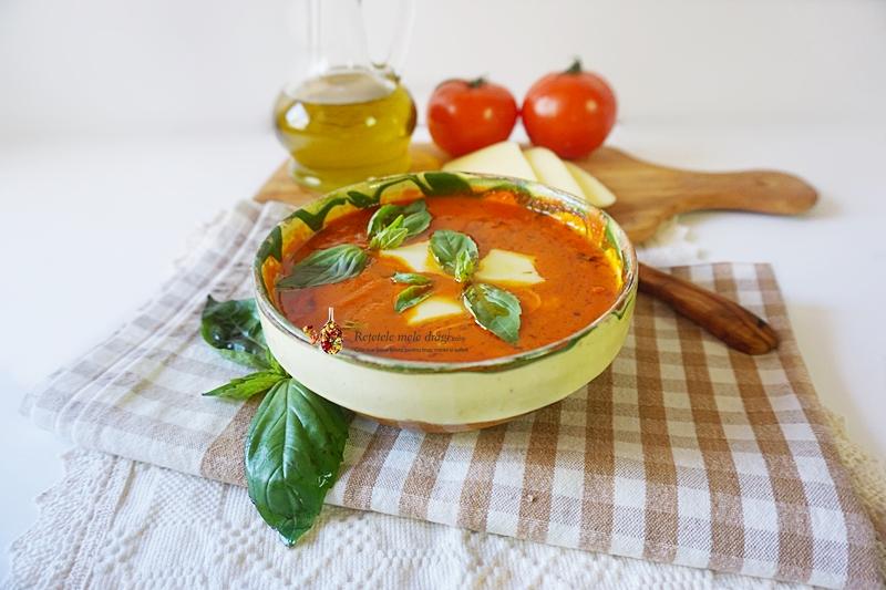 supa caprese supa de rosii cu mozzarella 1