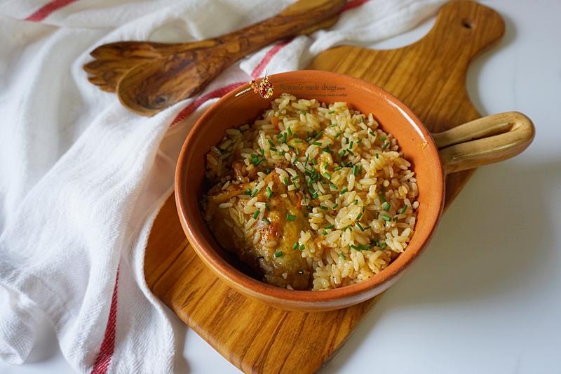 pui cu orez la cuptor 1