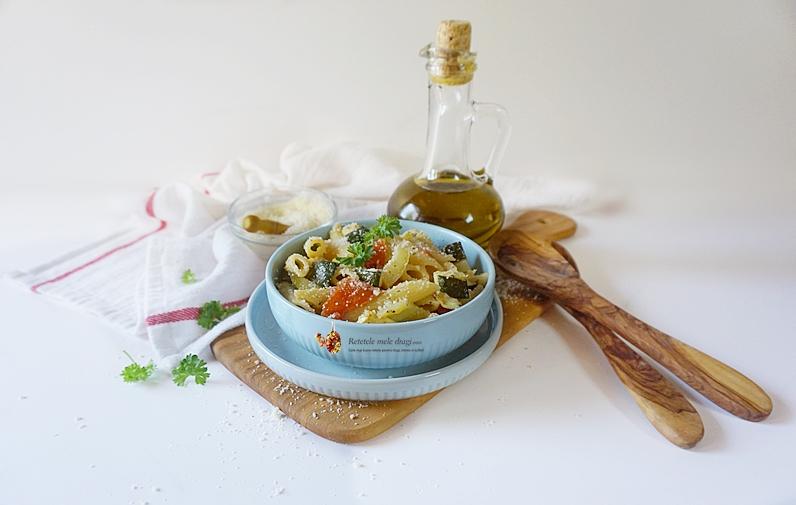 salata mediteraneana de paste cu legume la cuptor 1