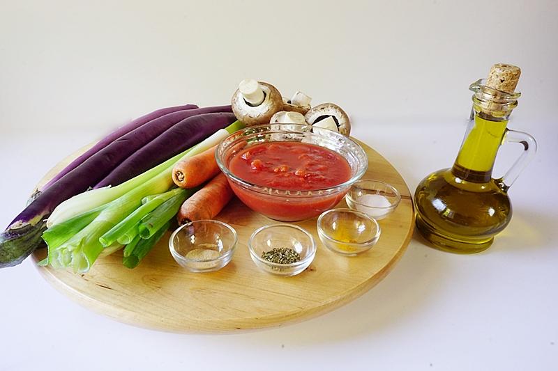 mancare de vinete cu ciuperci ingrediente